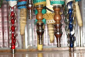 Hookah/Shisha Pipes at the Cairo bazaar.