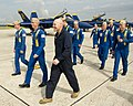 Flickr - Official U.S. Navy Imagery - Sgt. Maj. of the Marine Corps walks with Blue Angels officers after his flight in an F-A-18..jpg