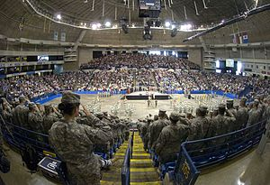 Crown Coliseum - Interior of the arena during the departure ceremony for the 30th Heavy Brigade Combat Team (c. 2009)