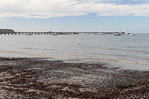 Flinders, Victoria - The sheltered beach and 250 m pier