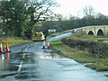 Flooding on the A712 near Kenbridge. - geograph.org.uk - 520752.jpg