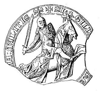 Florent of Hainaut - Seal of Florent of Hainaut