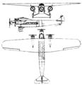 Fokker F-10 3-view Le Document aéronautique November,1928.png