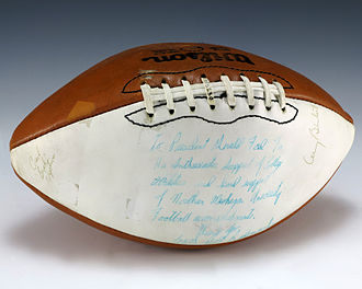 Northern Michigan University - A football signed by the 1978 Northern Michigan Wildcats football team