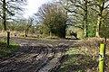 Footpath corner, Kilnbarn Wood - geograph.org.uk - 1771758.jpg