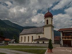 Forchach, katholische Filialkirche Expositurkirche heilige Sebastian Dm63984 foto11 2014-07-25 13.56.jpg