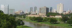 Skyline of Lakanbalen ning Fort Worth