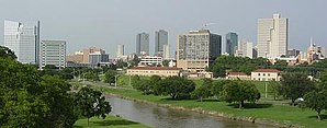 Skyline von Downtown Fort Worth