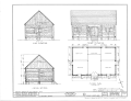 Fort Nisqually, Granary, Point Defiance Park, Tacoma, Pierce County, WA HABS WASH,27-TACO,1C- (sheet 1 of 2).png