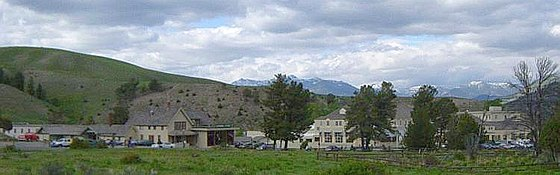 Fort Yellowstone, formerly a U.S. Army post, now serves as park headquarters. Fort Yellowstone-750px.jpg