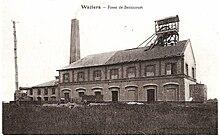 Carte postale ancienne en noir et blanc du puits bernicourt n 2 des mines d 39 aniche waziers - Bassin recreatif ancienne lorette calais ...