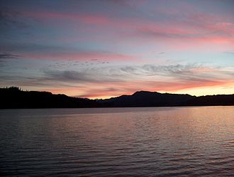 Sweet Home, Oregon - Foster Lake is on the eastern edge of Sweet Home.