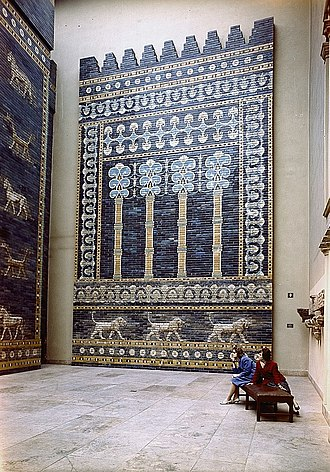 Neo-Babylonian Empire - Babylonian wall relief in the Pergamon Museum in Berlin