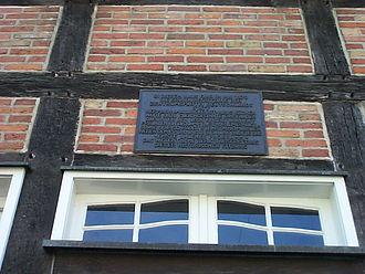 Ahlen - Plaque commemorating the founding of the Zentrumspartei