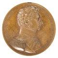 Framsida av medalj med bild av Karl XIV Johan i profil, 1820 cirka - Skoklosters slott - 99260.tif
