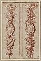 François-Antoine Vassé (1681-1736) deux trophees d'emblèmes religieux, dessin des bas-reliefs pour le sanctuaire de Notre Dame de Paris, avant 1712.jpg