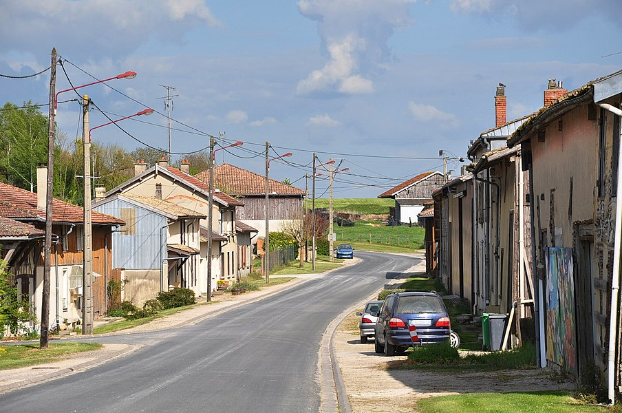 Main street (Rue de Champagne) in Sivry (municipality Sivry-Ante, Marne department, Champagne-Ardenne region, France).