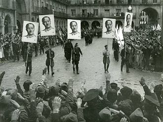 Francoist Spain - Francoist demonstration in Salamanca in 1937
