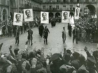 Francoist Spain - Francoist demonstration in Salamanca in 1937