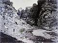 Frangepán várkastély a Dobra folyó völgyéből nézve. Fortepan 86931.jpg