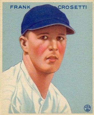 Frankie Crosetti - A 1933 Goudey baseball card of Crosetti