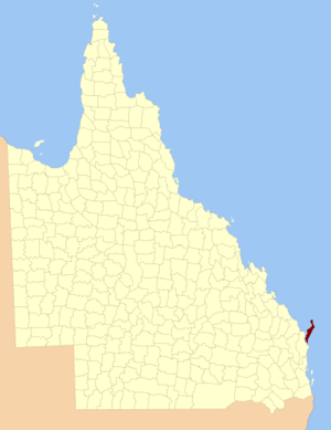 County of Fraser - Location within Queensland