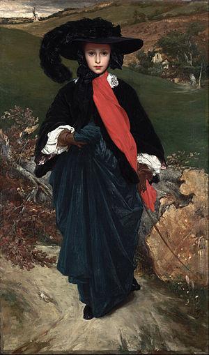 LEIGHTON Frederic Portrait of May Sartoris circa 1860