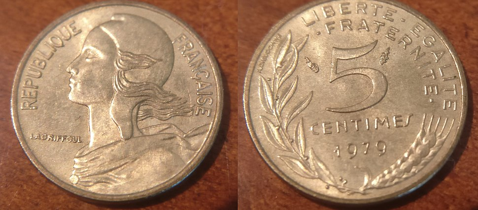 French 5 Centimes 1979 Coin