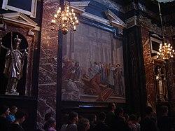 Muurskildery in die kasimir-kapel