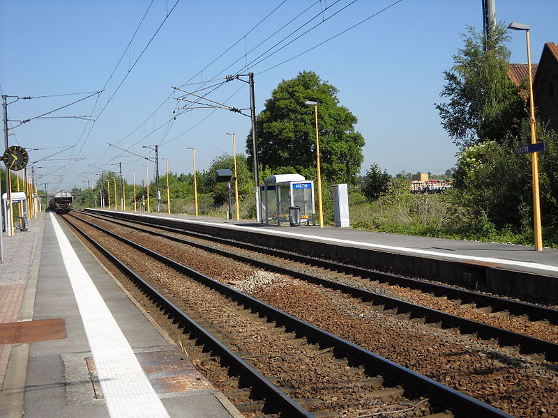 The train station of Fretin, Nord, France.