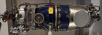 Pratt & Whitney Canada PT6 - accessories then intake at left, covered exhaust at right then propeller mount