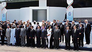 35th G8 summit - A family photo at the G8 summit on 9 July 2009