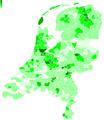 GL-stemmers per gemeente Tweede Kamer 2006.png