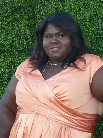 English: Actress Gabourey Sidibe at 2010 CBS S...