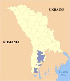 Położenie Gagauzji