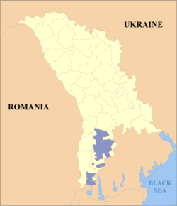 Location of Gagauzia (purple)