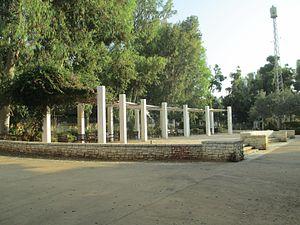 Kol Tsion HaLokhemet - Meir Park, opposite which Kol Zion HaLokhemet was located
