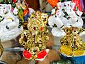 Ganesh Idol Images - Metallic & Marble Ganesh Idols on Display at a gift shop.jpg