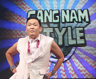 Gangnam Style - Psy with the Gangnam Style logo
