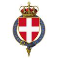 Garter encircled arms of Victor Emmanuel, Prince of Naples.png