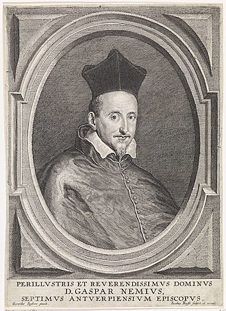 Gaspard Nemius - Portrait of Gaspard Nemius, engraved by Jacob Neefs after Gerard Seghers