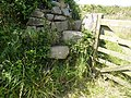 Gate post steps to coastal path. - panoramio.jpg