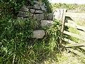 Gate post steps to coastal path. - panoramio.jpg