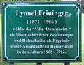 Gedenktafel Dellbrückstr 11 (Heringsdorf) Lyonel Feininger.jpg