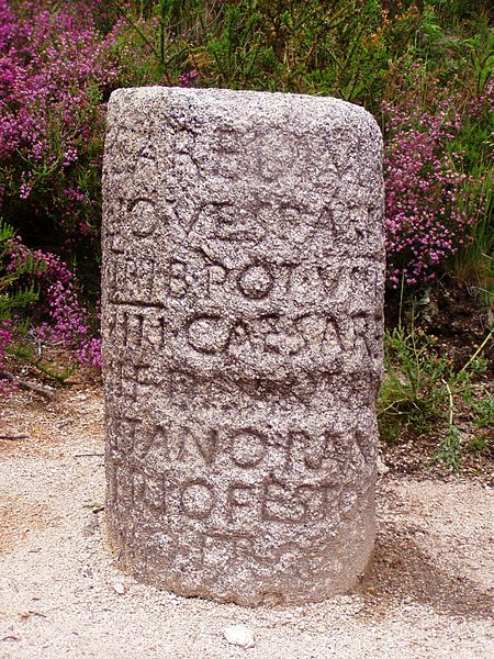 Example of a Roman milestone