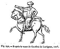 Geoffroy II de Lusignan sceau 1225
