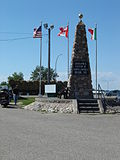 Geographical Center of North America monument, Rugby.JPG