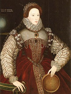 George Gower's sieve portrait of Elizabeth I; 1579.[65]