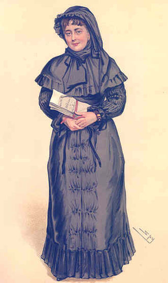 Georgina Weldon - Mrs Georgina Weldon as portrayed by 'Spy' in Vanity Fair (1884)