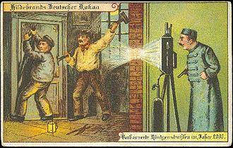 """Theft - """"Hildebrands Deutscher Kakao"""" (Hildebrands German Cocoa) and """"Verbesserte Röntgenstrahlen im Jahre 2000"""" (Improved X-Rays in the year 2000)"""